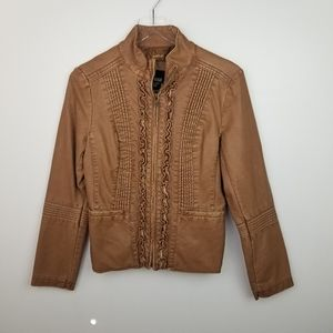 a.n.a Faux Leather Zip Up Jacket, size small